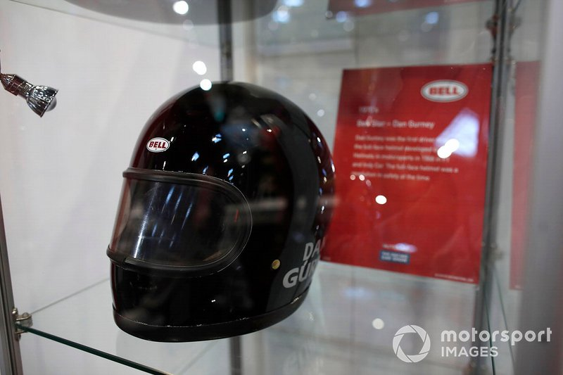 Dan Gurney's helmet on display