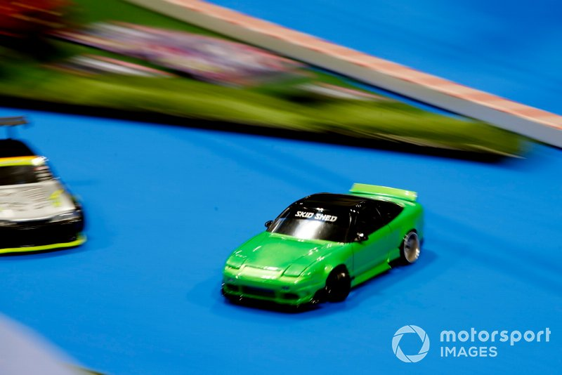 Remote-control car racing at the Autosport show