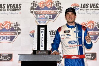 Chase Briscoe, Stewart-Haas Racing, Ford Mustang Ford Performance Racing School, celebrates in Victory Lane.