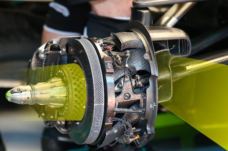 Il freno della Mercedes F1 AMG W11