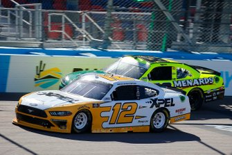 Brad Keselowski, Team Penske, Ford Mustang XPEL and Brandon Jones, Joe Gibbs Racing, Toyota Supra Menards/Turtle Wax