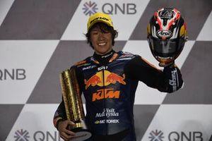Il vincitore della gara Tetsuta Nagashima, Red Bull KTM Ajo
