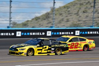 Brad Keselowski, Team Penske, Ford Mustang Alliance Parts, Joey Logano, Team Penske, Ford Mustang Shell Pennzoil