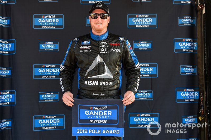 Pole Award Winner Austin Hill, Hattori Racing Enterprises, Toyota Tundra AISIN Group