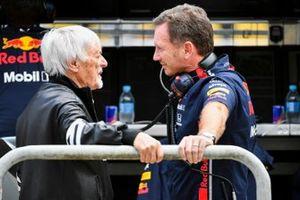 Bernie Ecclestone, Chairman Emiritus of Formula 1, and Christian Horner, Team Principal, Red Bull Racing