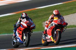 Marc Marquez, Repsol Honda Team, Francesco Bagnaia, Pramac Racing