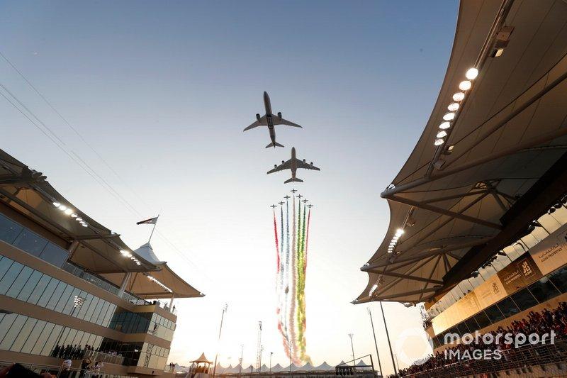 A pre-race aerial display