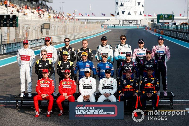 La foto de los pilotos de F1 2019