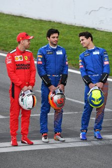 Sebastian Vettel, Ferrari, Carlos Sainz, McLaren and Lando Norris, McLaren