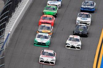 Harrison Burton, Joe Gibbs Racing, Toyota Supra Dex Imaging and Austin Cindric, Team Penske, Ford Mustang MoneyLion