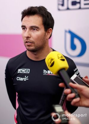 Sergio Perez, Racing Point parla ai media
