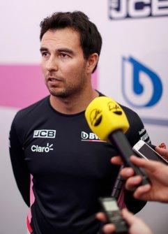 Sergio Perez, Racing Point parla ai media
