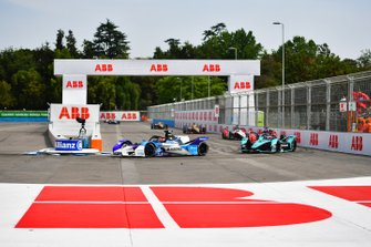 Maximilian Günther, BMW I Andretti Motorsports, BMW iFE.20 Mitch Evans, Jaguar Racing, Jaguar I-Type 4, Pascal Wehrlein, Mahindra Racing, M6Electro