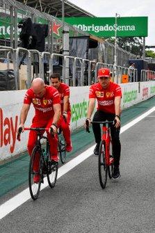 Charles Leclerc, Ferrari on a bike
