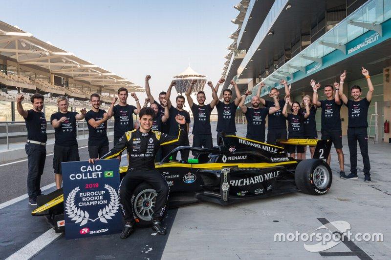 Caio Collet e a equipe R-ace GP: título entre os novatos