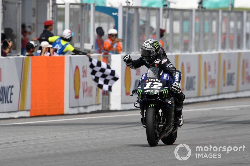 Maverick Vinales, Yamaha Factory Racing, vince la gara del GP di Malesia