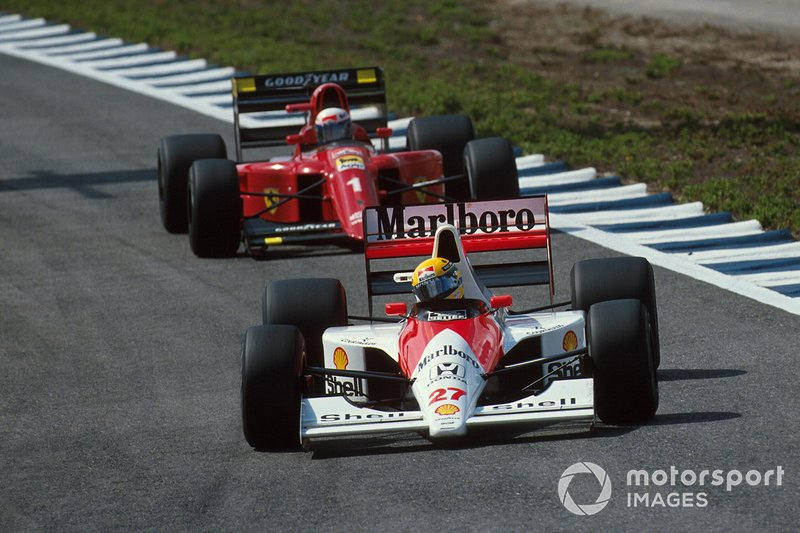 Ayrton Senna, McLaren, Alain Prost, Ferrari