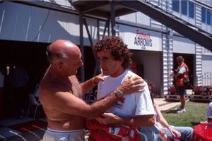 Stirling Moss and Alain Prost, Ferrari