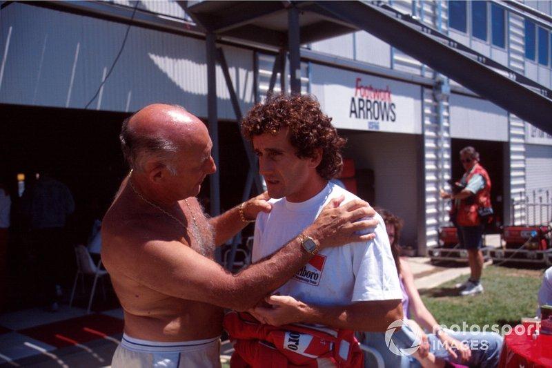 Alain Prost, Ferrari, mit Stirling Moss