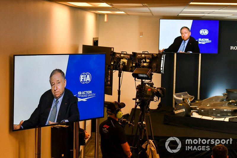 The 2021 Formula 1 technical regulations are unveiled in a press conference, Jean Todt, President, FIA
