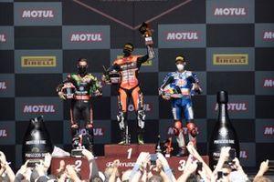 Jonathan Rea, Kawasaki Racing WorldSBK Team, Scott Redding, Aruba.It Racing - Ducati, Toprak Razgatlioglu, PATA Yamaha WorldSBK Team