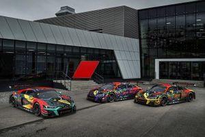 Audi R8 LMS (Audi Sport Team WRT), Kelvin van der Linde/Dries Vanthoor/Markus Winkelhock; Audi R8 LMS (Audi Sport Team WRT), Mirko Bortolotti/Frédéric Vervisch/Charles Weerts; Audi R8 LMS (Audi Sport Team Car Collection), Mattia Drudi/Christopher Haase/Patric Niederhauser