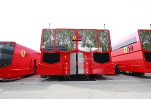 Ferrari motorhome in the paddock
