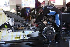 #18 Era Motorsport ORECA LMP2 07 being attended in the pit area