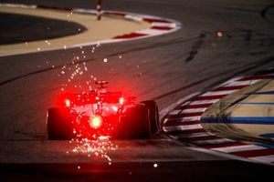 Sparks fly from Kevin Magnussen, Haas VF-20