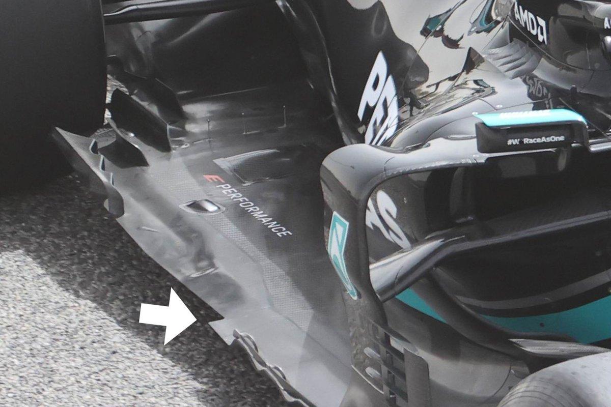 Detalle del piso de Mercedes W12