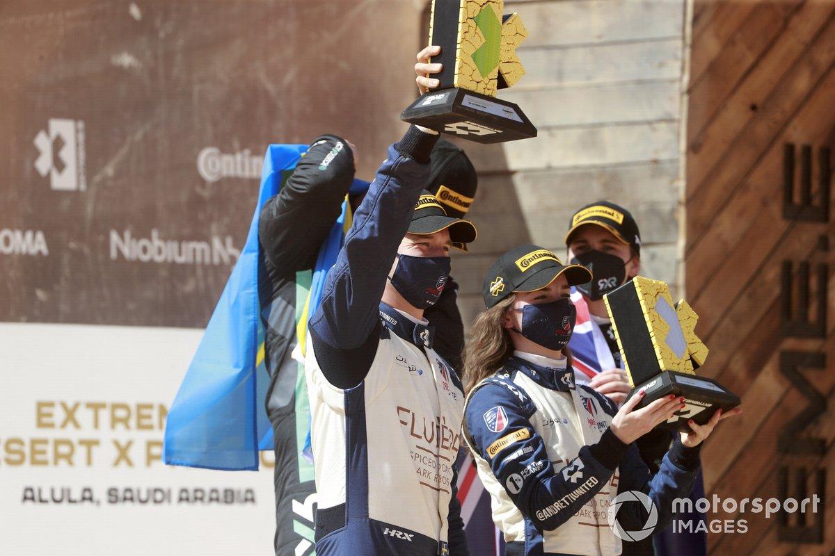 Podio: Catie Munnings, Timmy Hansen, Andretti United Extreme E