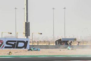 Sturz: Dennis Foggia, Leopard Racing