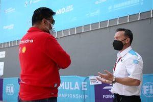 Dilbagh Gill, CEO, Team Principal, Mahindra Racing, Roger Griffiths, Team Principal, BMW i Andretti Motorsport