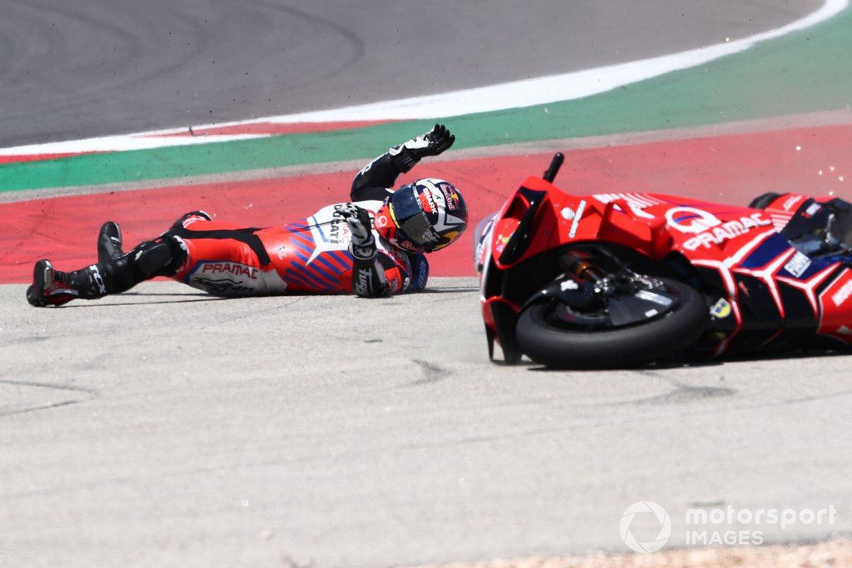 Caída de Johann Zarco, Pramac Racing