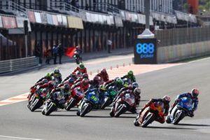Pol Espargaro, Red Bull KTM Factory Racing leads, Maverick Vinales, Yamaha Factory Racing starts from pit lane