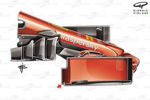 Ferrari SF1000 front wing end plate