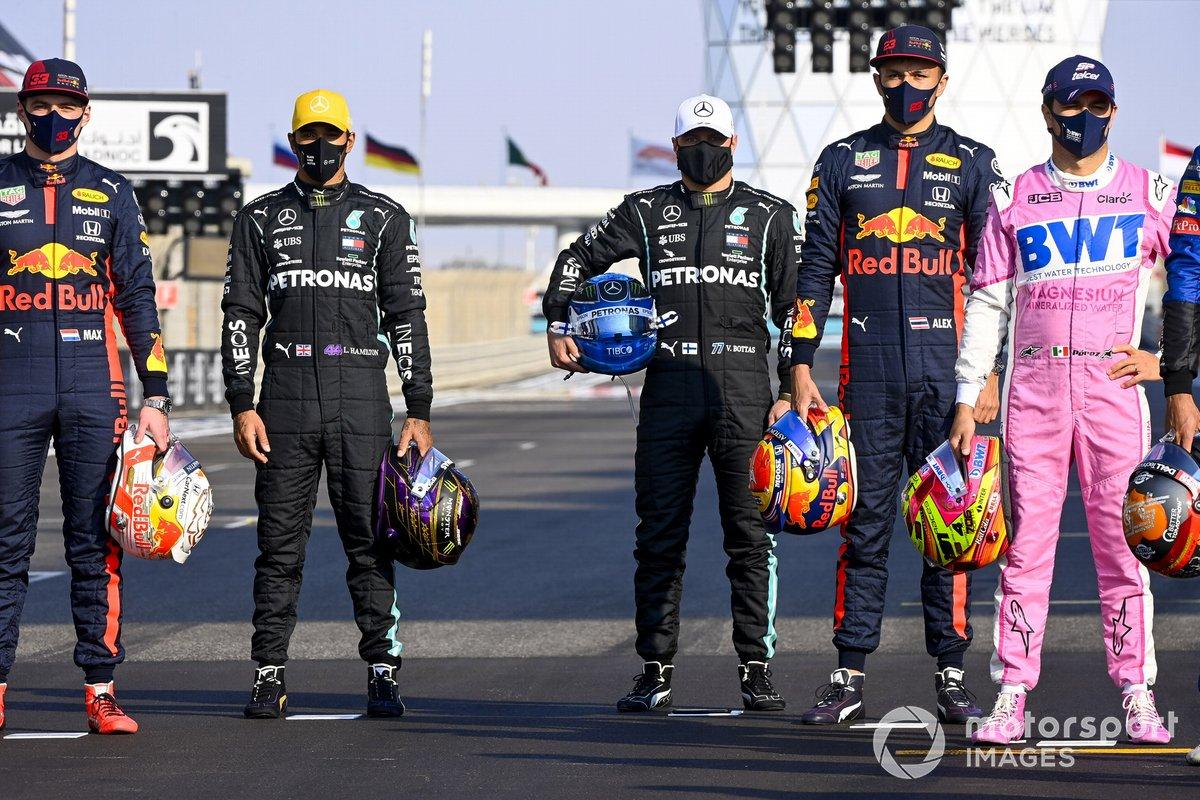 Foto di gruppo di fine stagione dei piloti