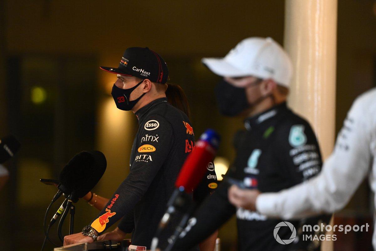 Pole man Max Verstappen, Red Bull Racing, intervistato dopo le Qualifiche