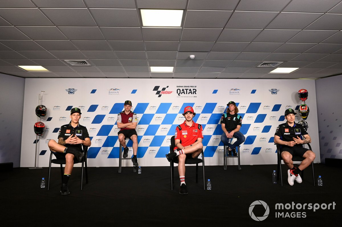 Fabio Quartararo, Yamaha Factory Racing, Sam Lowes, Marc VDS Racing, Francesco Bagnaia, Ducati Team, Darryn Binder, Petronas Sprinta Racing, Maverick Vinales, Yamaha Factory Racing