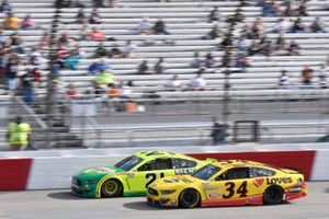 Matt DiBenedetto, Wood Brothers Racing, Ford Mustang Menards/Libman, Michael McDowell, Front Row Motorsports, Ford Mustang Love's Travel Stops