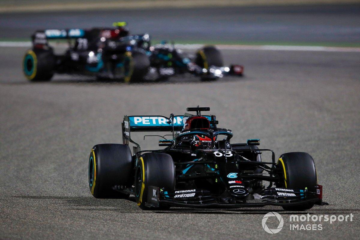 George Russell, Mercedes F1 W11, Valtteri Bottas, Mercedes F1 W11