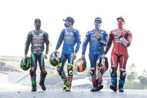 Franco Morbidelli, Petronas Yamaha SRT, Joan Mir, Team Suzuki MotoGP, Alex Rins, Team Suzuki MotoGP, Andrea Dovizioso, Ducati Team