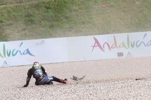 Sturz: Fabio Quartararo, Yamaha Factory Racing