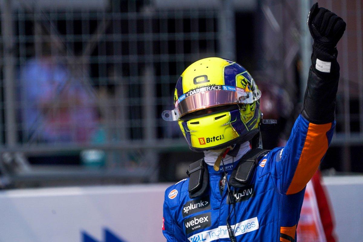 Segundo puesto Lando Norris, McLaren MCL35M