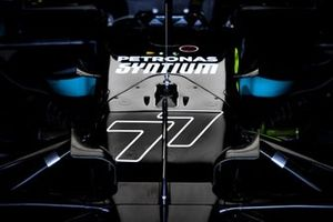 Race number on the car of Valtteri Bottas, Mercedes W12