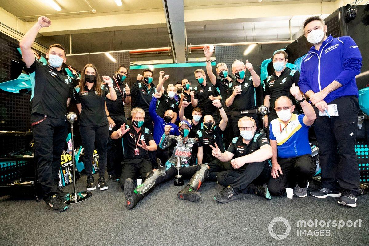 Franco Morbidelli, Petronas Yamaha SRT wit the team