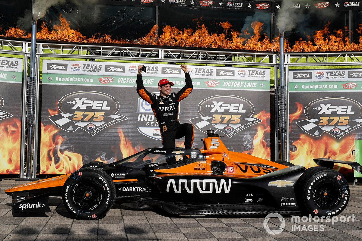 Ganador Patricio O'Ward, Arrow McLaren SP Chevrolet