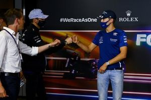 Esteban Ocon, Alpine F1 e George Russell, Williams in conferenza stampa