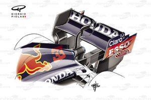 Red Bull Racing RB16B achtervleugel