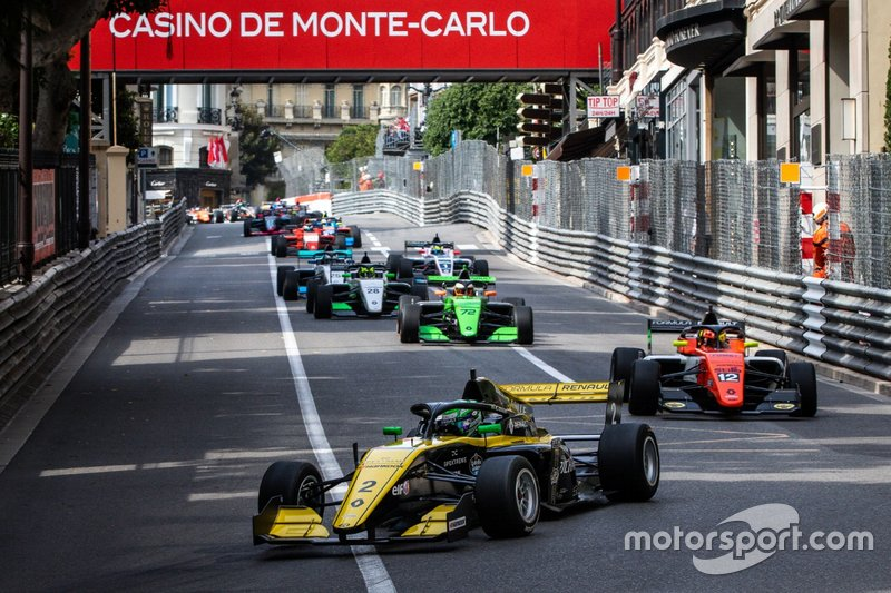 Caio Collet during Monaco's race one